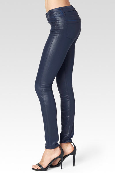 LAST CALL SIZE 28 | Paige Luxe Coated Denim Blue Jeans