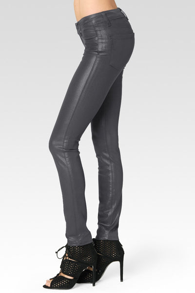 Paige Luxe Coated Smoke Grey Jeans