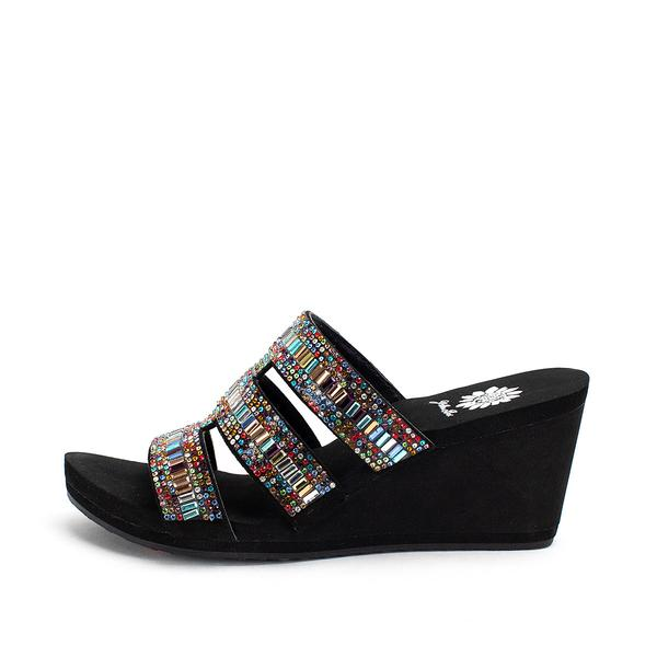 Multi-colored Wedge Sandals