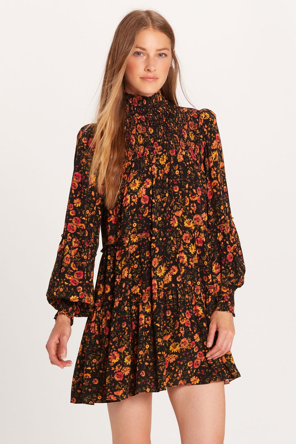 LAST CALL SIZE M | Black Floral Mini Dress