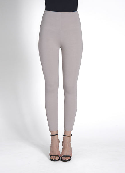 Crop High Waist Legging w/Zip in Cement