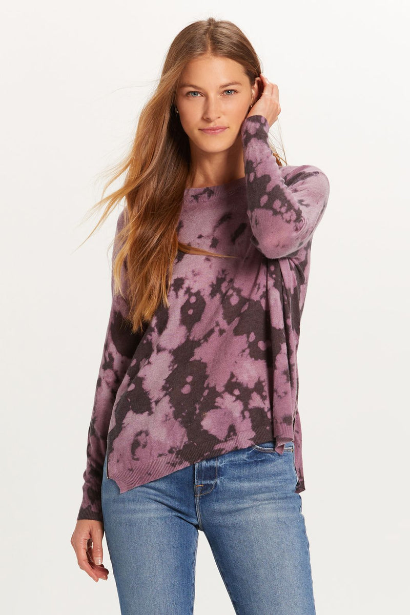 LAST CALL SIZE M | Purple Tie Dye Sweater