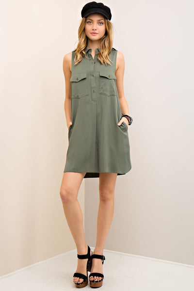 LAST CALL SIZE L | Button Down Safari Shirt Dress