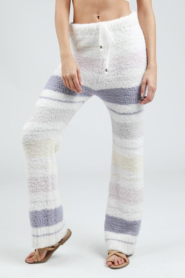 Multi-Color Stripe Berber Fleece Pants