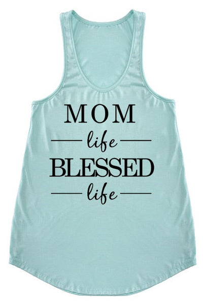 LAST CALL SIZE L | Mom Life Blessed Life Tank Top