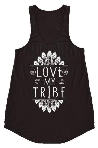 LAST CALL SIZE L | Love My Tribe Tank Top in BLACK