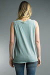 Tie Front Tank in Sage