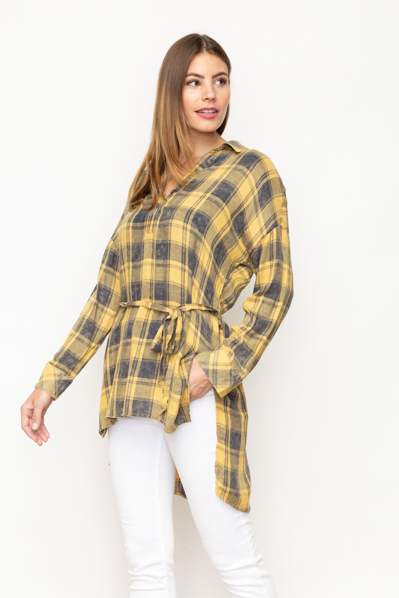 LAST CALL SIZE S | Plaid High-Low Tunic
