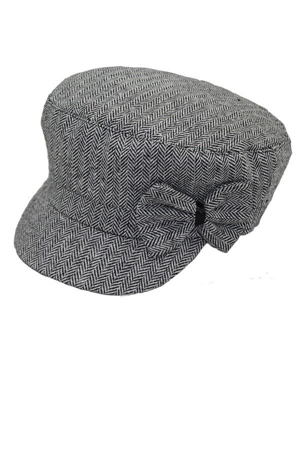 LAST CALL SIZE O/S | Sergeant Cap in Black With Bow
