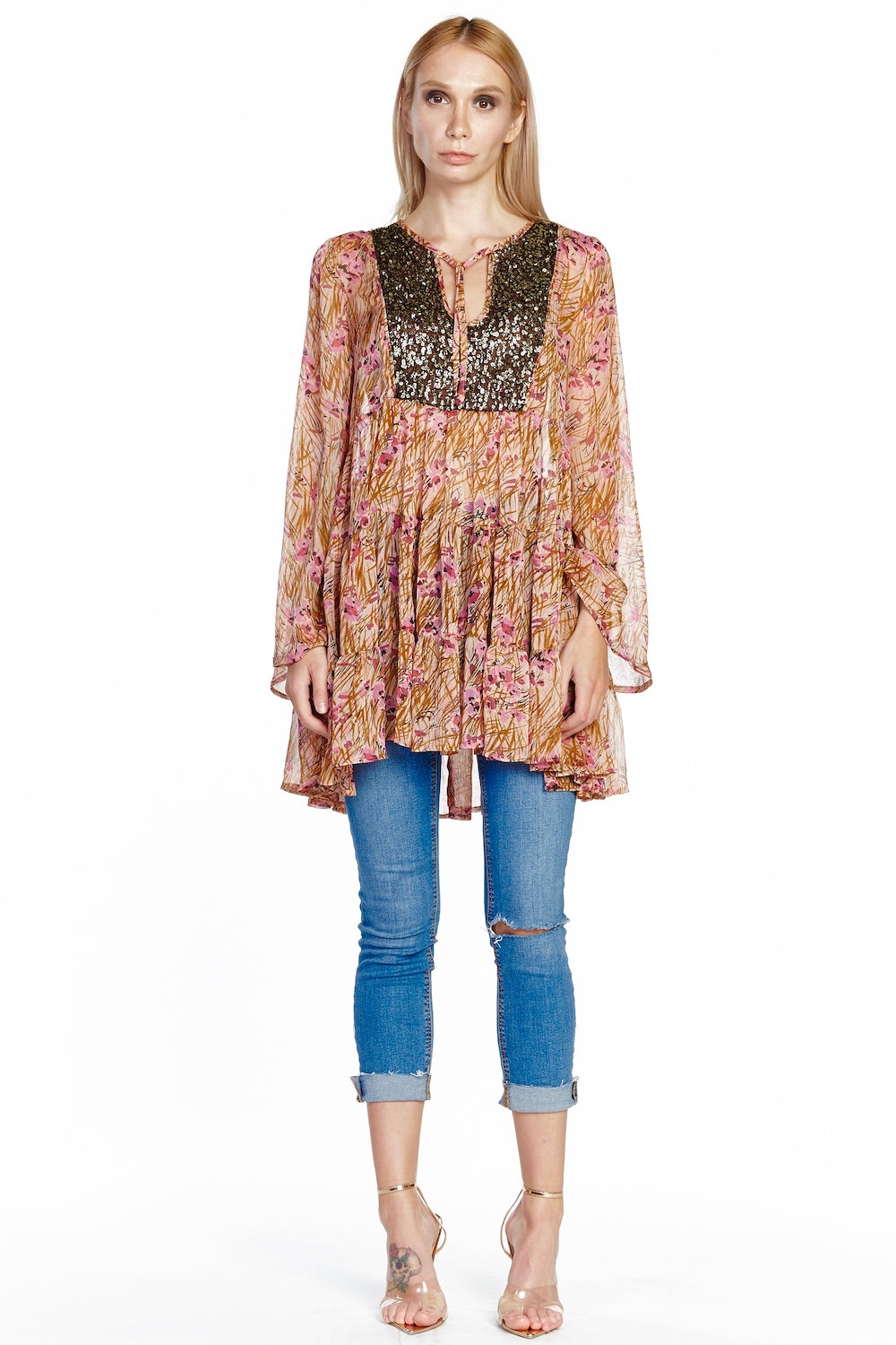 Boho Beauty Sequin Tunic