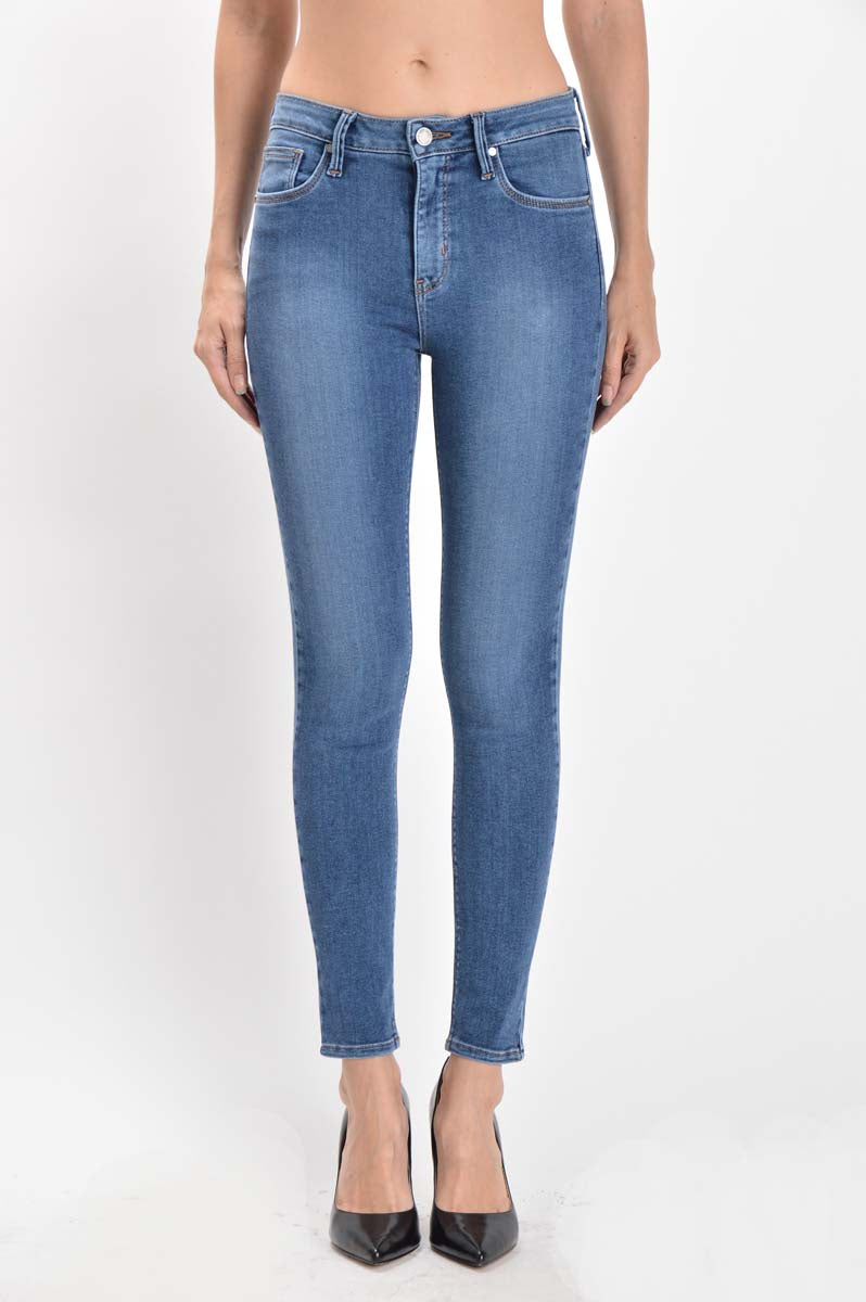 Super Soft Stretch Skinny Jeans in Light Blue Wash