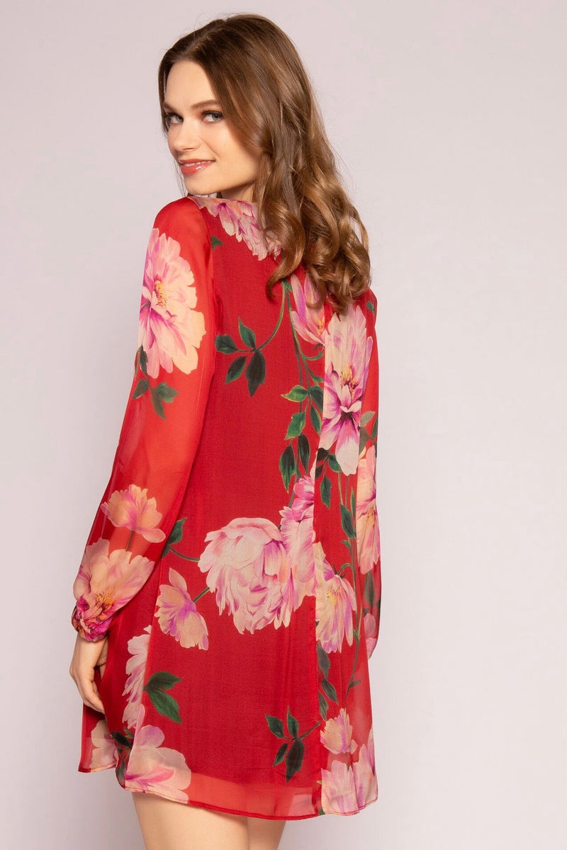 Floral Shift Dress Back