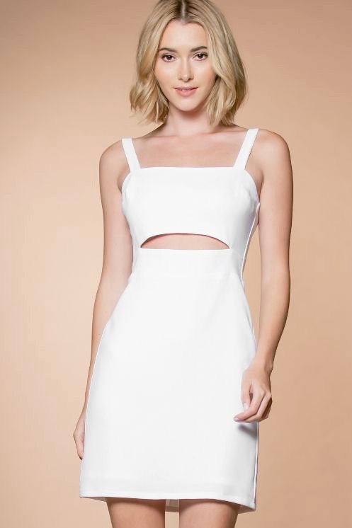Keyhole Cutout Cocktail Dress