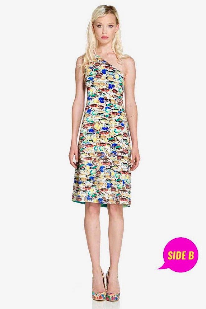 Reversible Water Waves Go Fish Dress