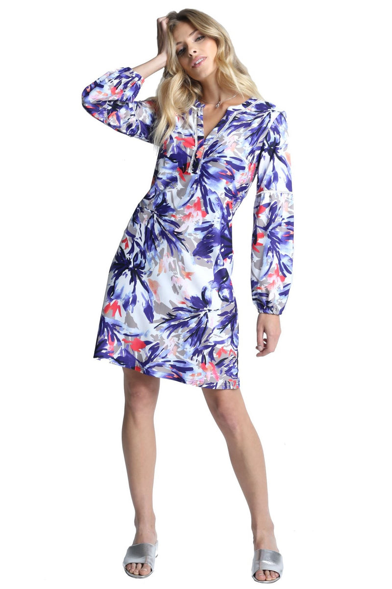 Wildflower Print Long Sleeve Dress