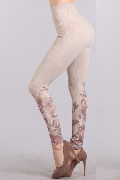 High Waist Rose Garden Legging