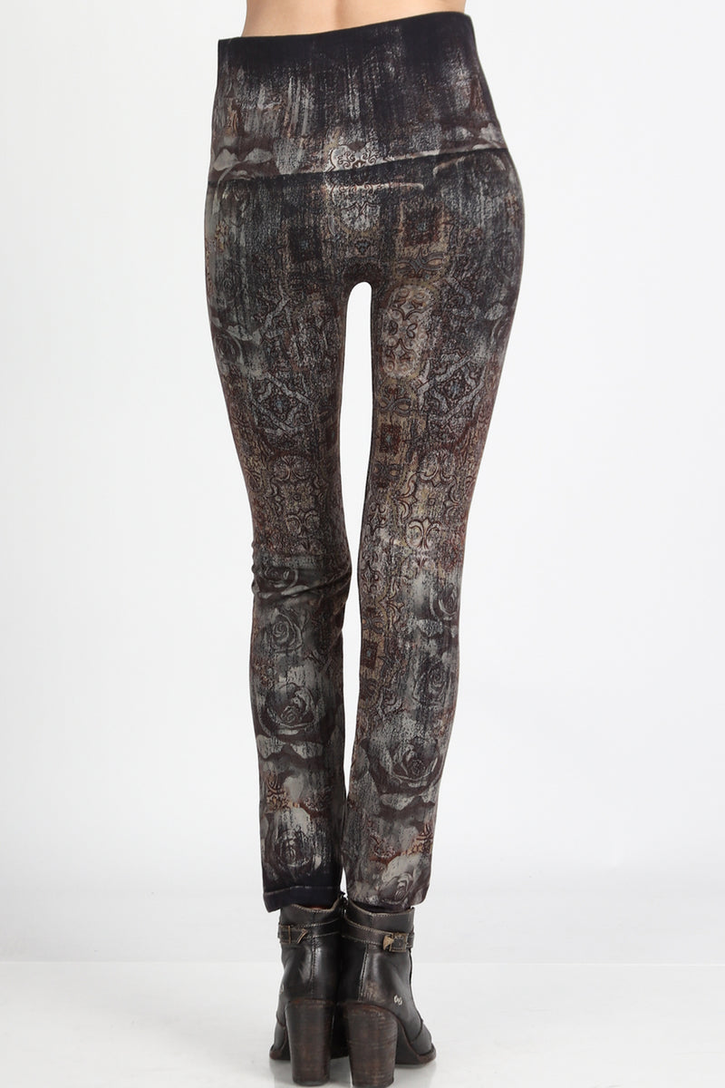 LAST CALL OS | High Waisted Moroccan Print Leggings