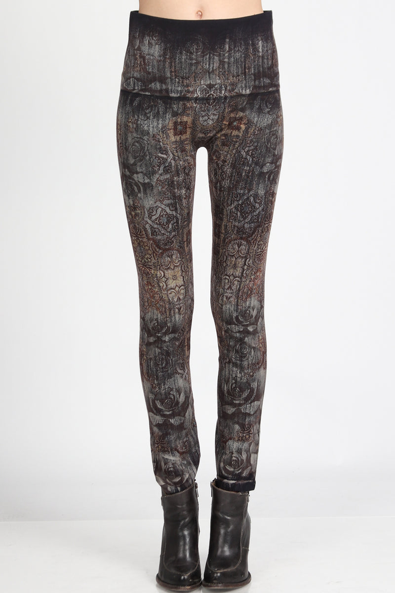 High Waisted Moroccan Print Leggings