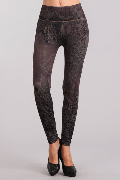 Last Call One Size | Paisley Waves High Waist Leggings