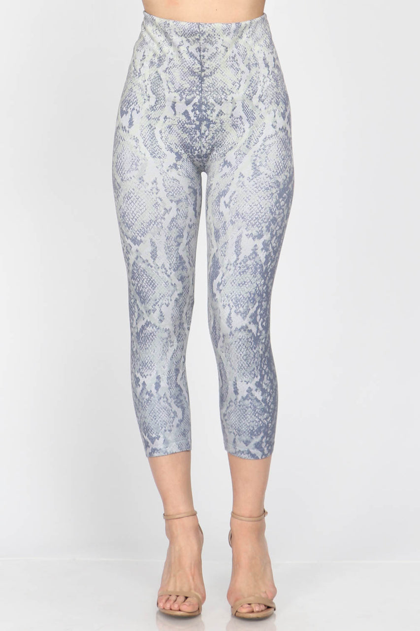 Snake Print Cropped Leggings