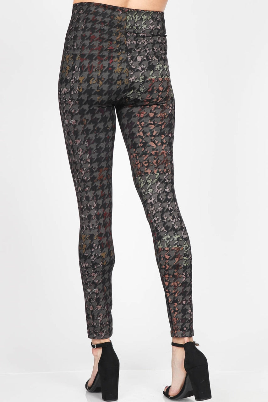 Colorful Houndstooth Print Leggings