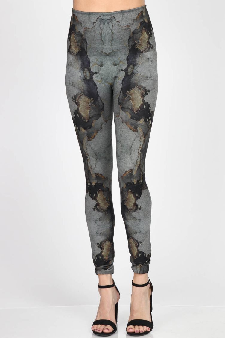 Golden Gaze Marble Print Leggings