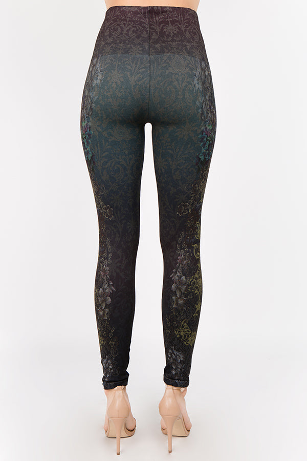 LAST CALL | High Waist Legging with Pacific Mystique Print