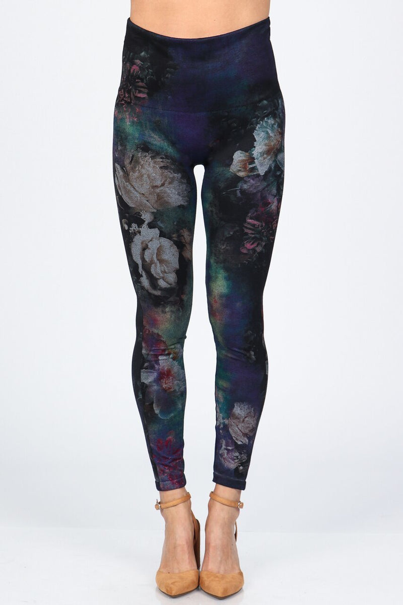 Multicolor Floral Print Leggings