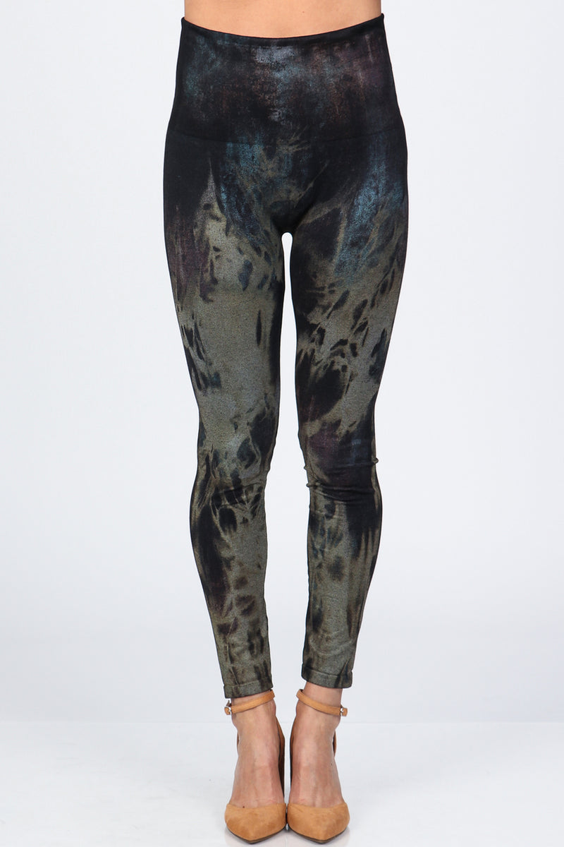High Waisted Acid Wash Leggings