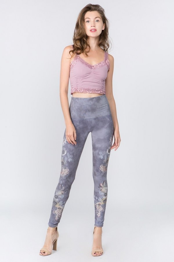 Garden Print High Waist Legging