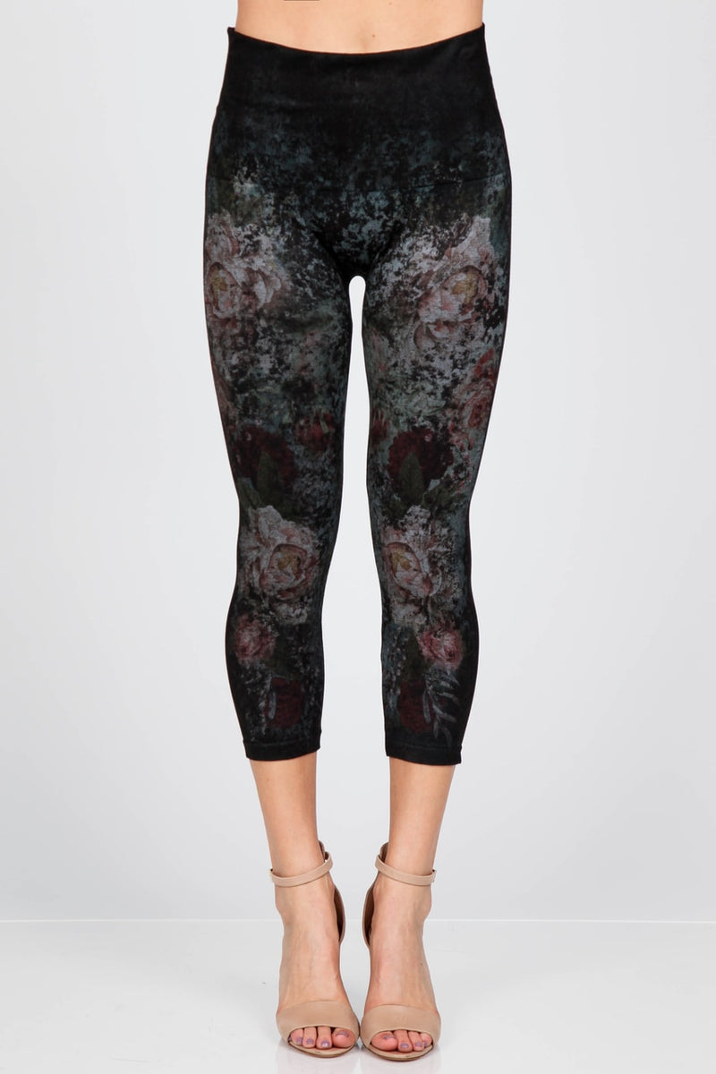 Floral Print Cropped Leggings