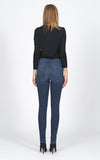 Gisele High Rise Super Skinny with Leopard Stripe
