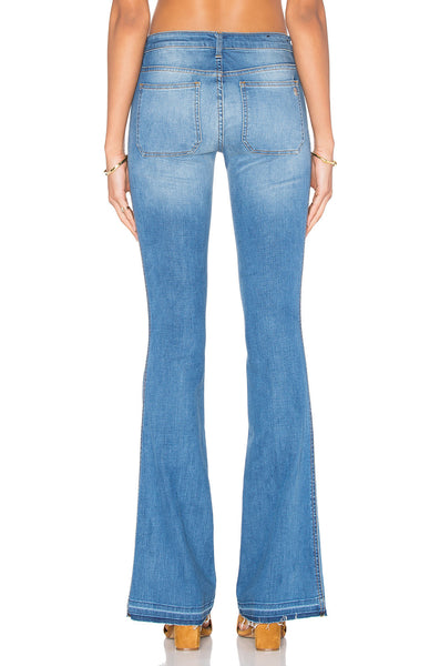 Distressed Flare Light Wash Flare Jeans- Back