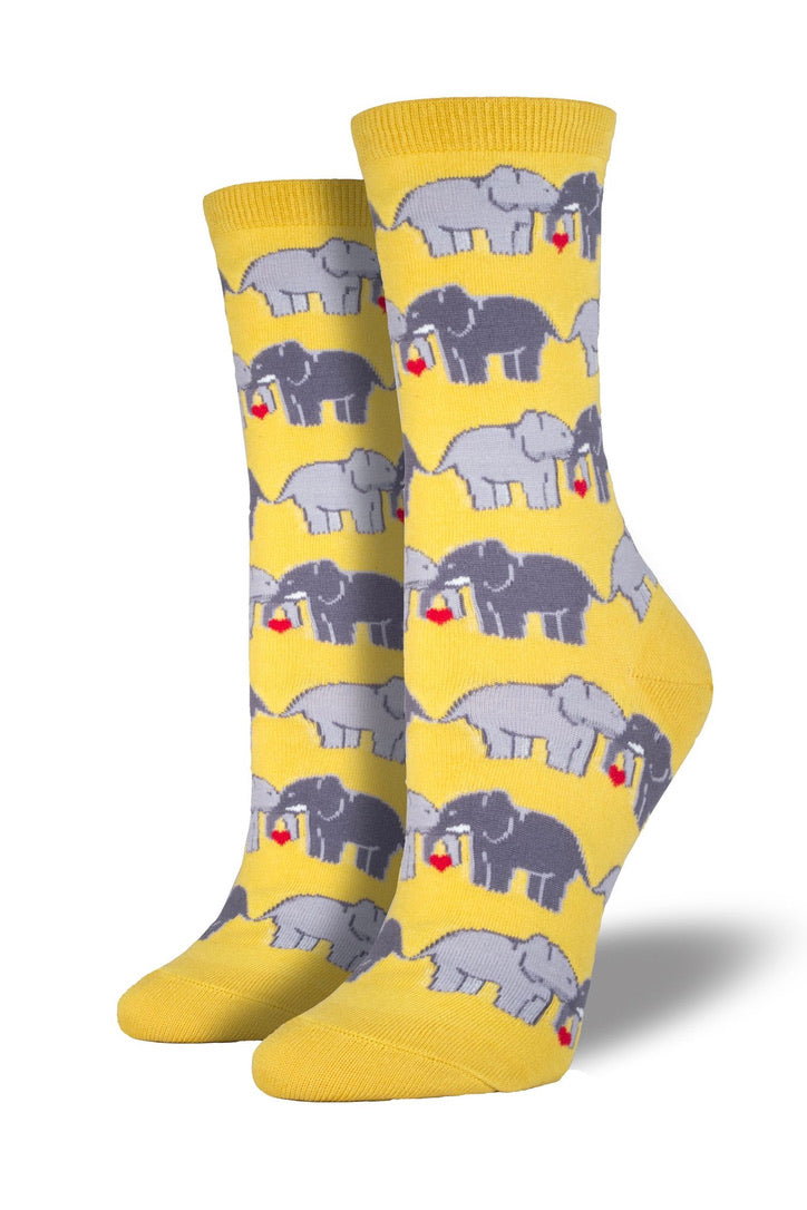 LAST CALL O/S | Elephant Love Socks in Yellow