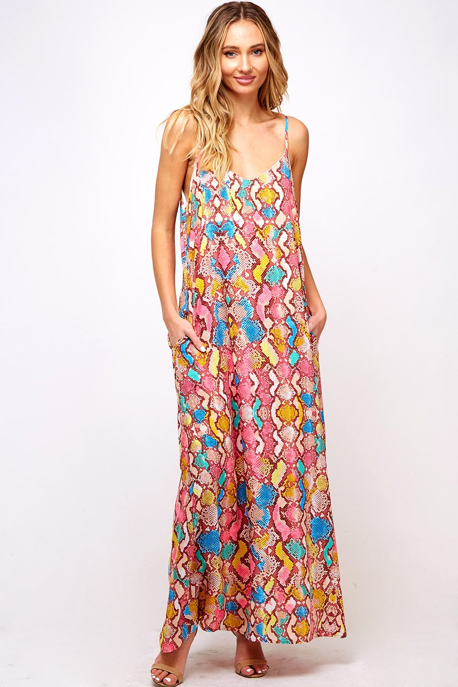 LAST CALL SIZE L | Multi Color Snake Print Maxi