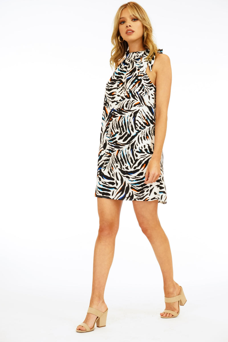 LAST CALL SIZE M | Exotic Print Halter Dress