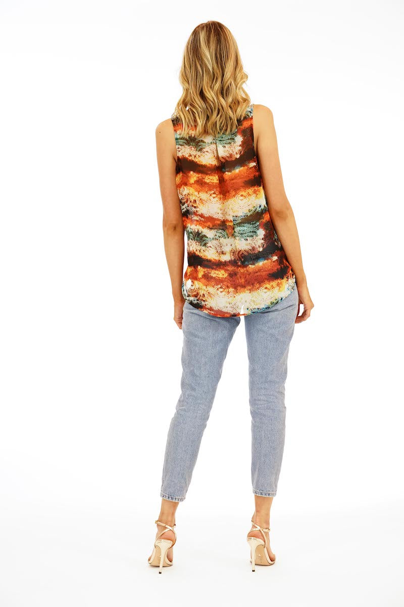 LAST CALL SIZE S | Dessert Sunset Crossover Sleeveless Top