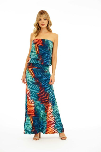 Drop Waist Tube Maxi Dress Viva