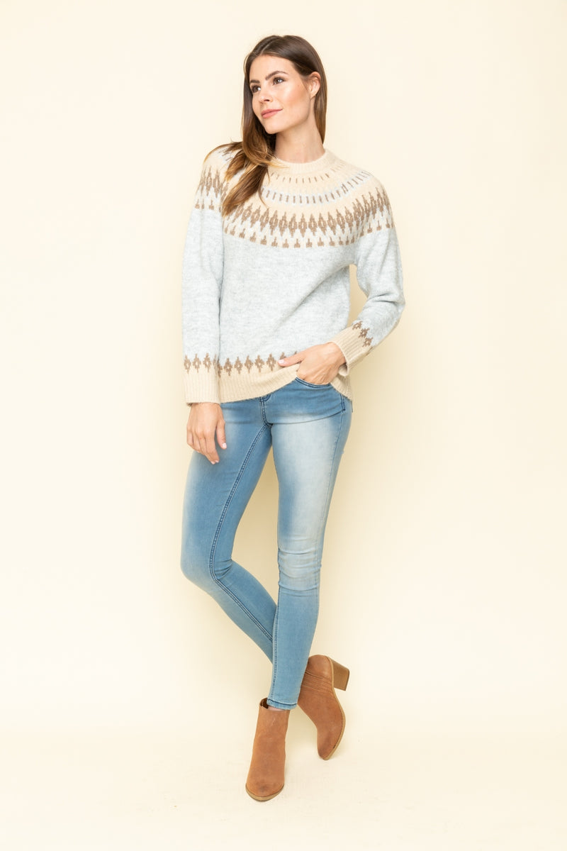 Cozy Knit Mock Neck Sweater