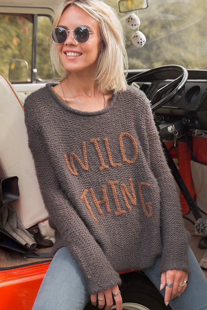 LAST CALL XS/S | Wild Thing Crew Neck Knit Sweater