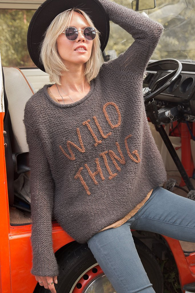 Wild Thing Crew Neck Knit Sweater