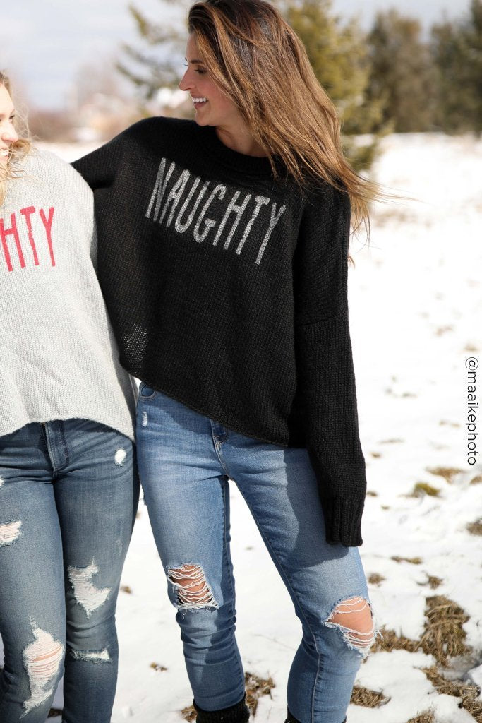LAST CALL SIZE M/L | Naughty Sweater