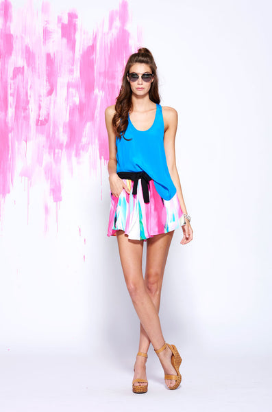 LAST CALL SIZE S | Front Tie Shorts in Abstract Watercolor