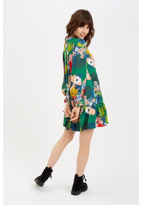 Long Sleeve Floral Penny Dress