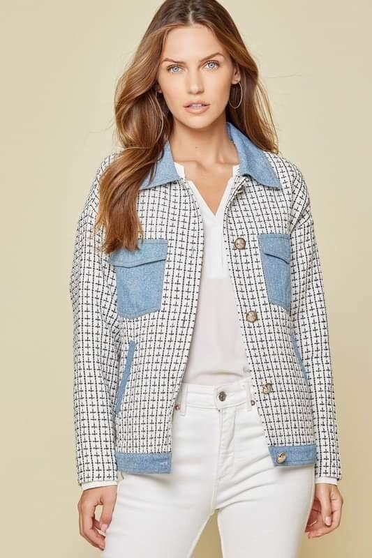 Tweed & Denim Jacket
