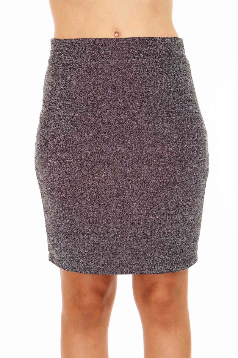 Lurex Mini Skirt with Sparkles