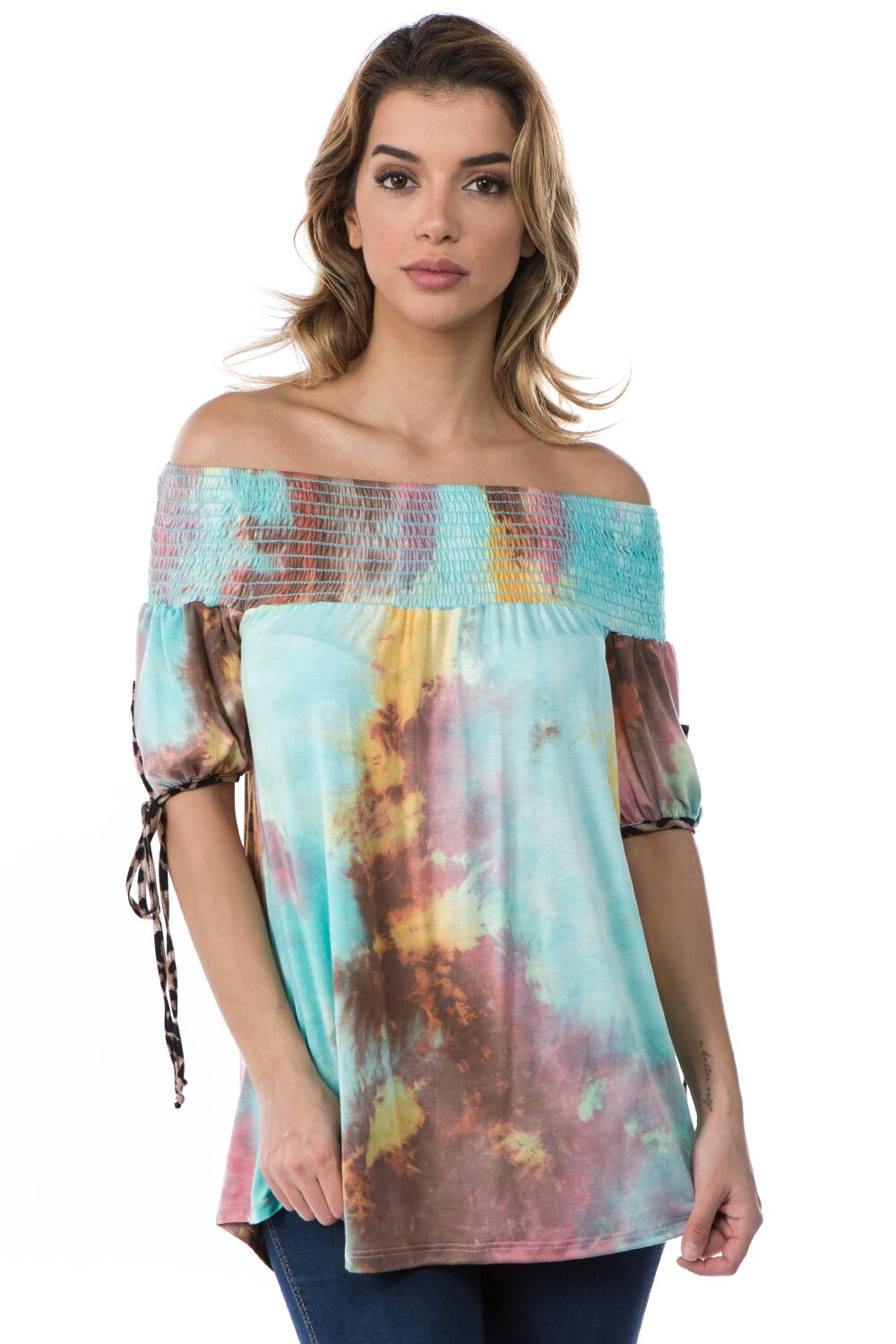 Off Shoulder Tie Dye Top