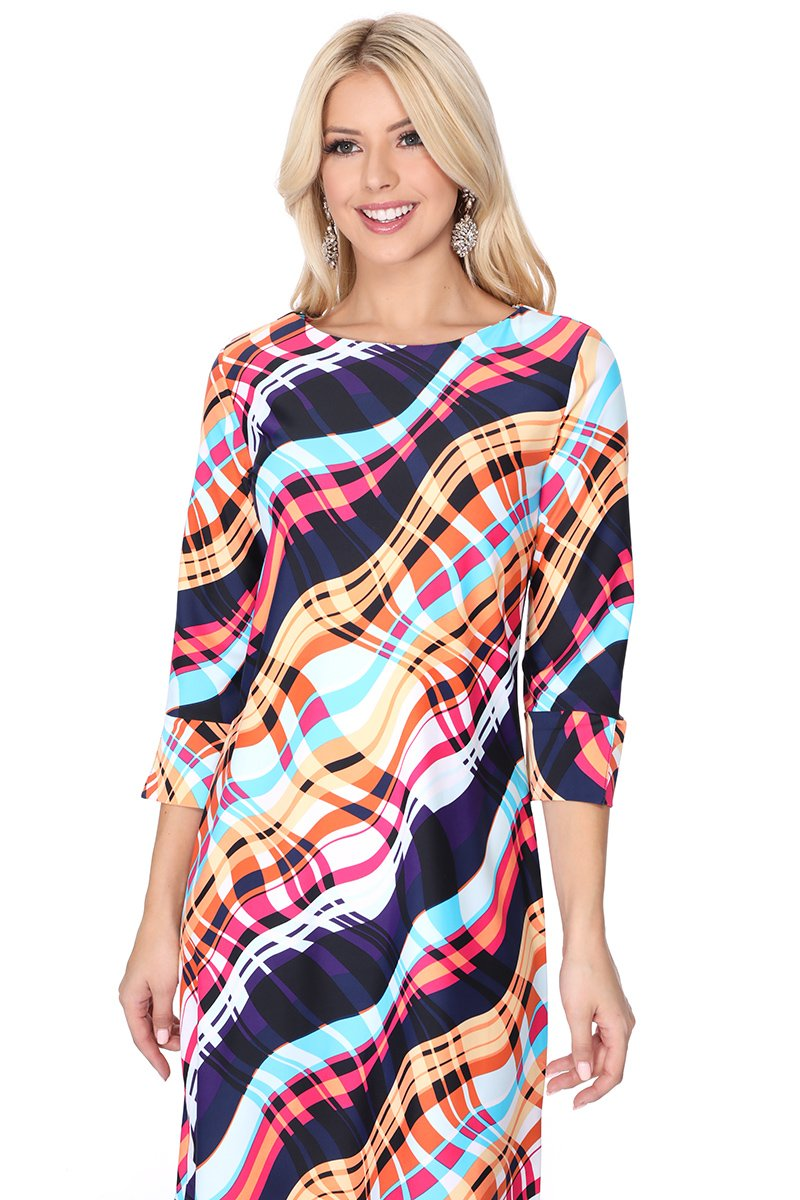 LAST CALL SIZE XL | Waves of Color Dress