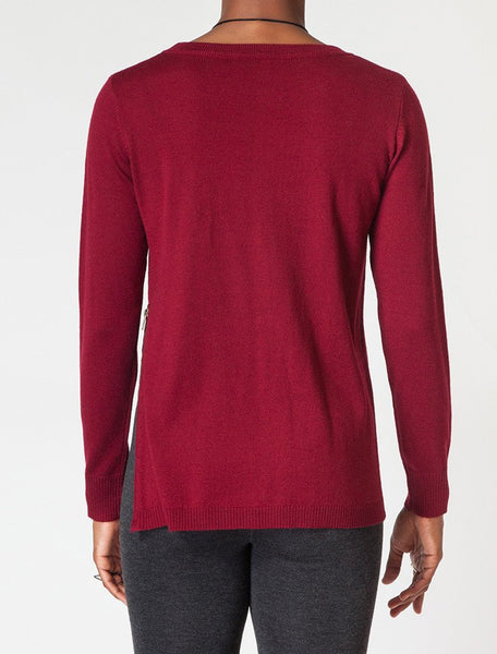 Zipper Trim Sweater - back