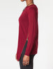 Zipper Trim Sweater - zipper detail